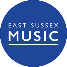East sussex music blue logo transparent