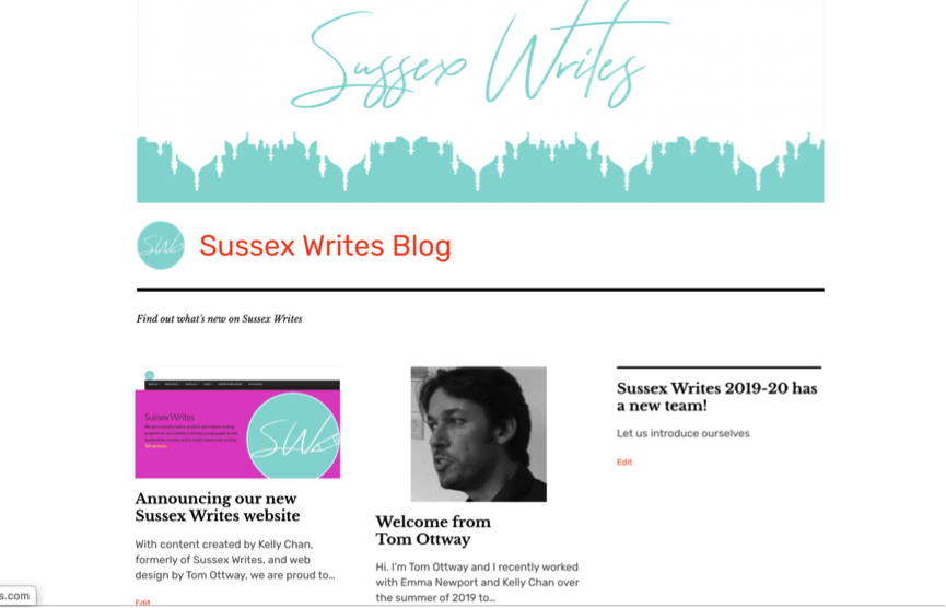 sussex writes blog
